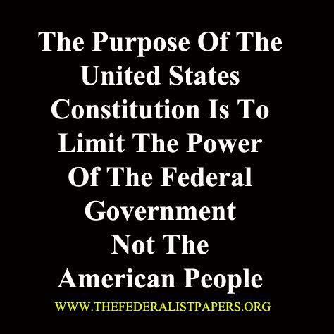 Purpose of the Federal Govt