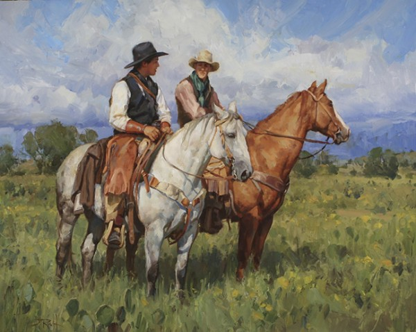 Texas Cowhands 32x40