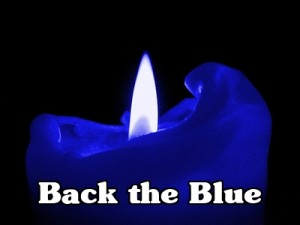 Back the Blue Candle 2